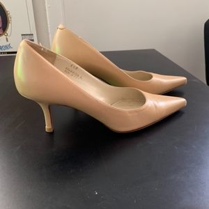 Coach Peach Nude Stiletto Pointy Waverly Heels